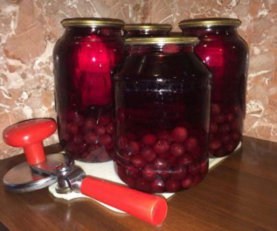 Заготовки из вишни и сливы - варенье, компот, сок